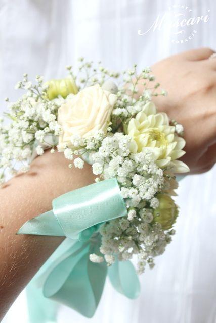 ślubna bransoletka kwiatowa dla świadkowej