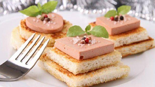 presentation bouchées apéritives au foie gras