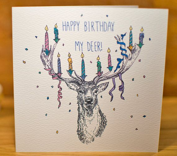 11 best card making images on pinterest birthday cards card reindeer birthday illustration bookmarktalkfo Image collections