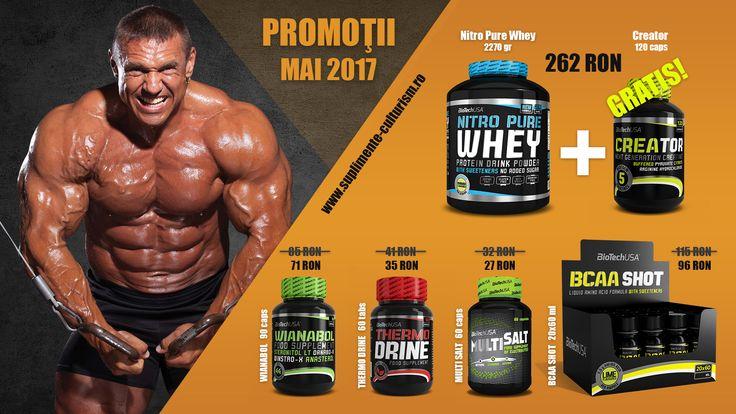 Nitro Pure Whey + CreaTOR GRATIS!!! - PACHET PROMOTIONAL La fiecare Nitro Pure Whey primesti GRATIS un CreaTOR la 120 capsule! http://suplimente-culturism.ro/promotie-pachet-nitro-pure-whey-creator-biotech.html  Promotia este valabila doar in luna mai 2017, in limita stocului disponibil!