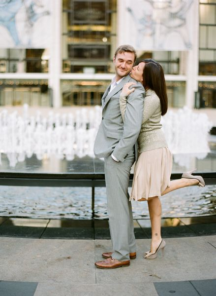 Iconic New York Metropolis Engagement Picture Session