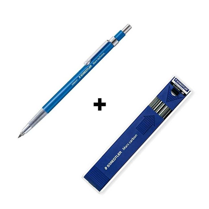 Staedtler Lead Holder 780C+Mars Carbon HB 2.0mm Mechanical Pencil Drawing Gift #STAEDTLER