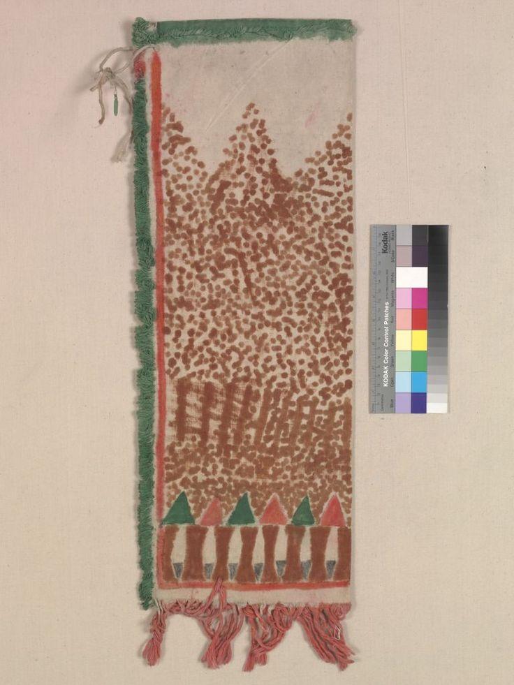 Сумка для трубки из муслина, Брюле  Сиу. 1910 год. Вид 1.