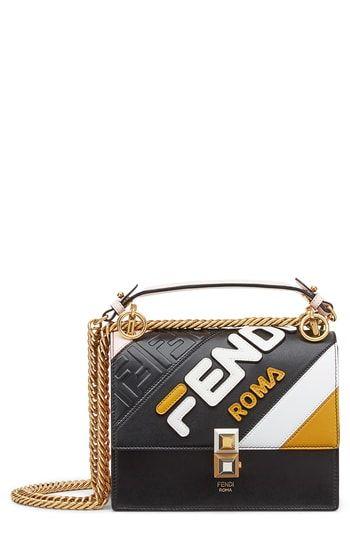 73be946402ca Fendi x FILA Small Kan I Mania Logo Shoulder Bag in 2019
