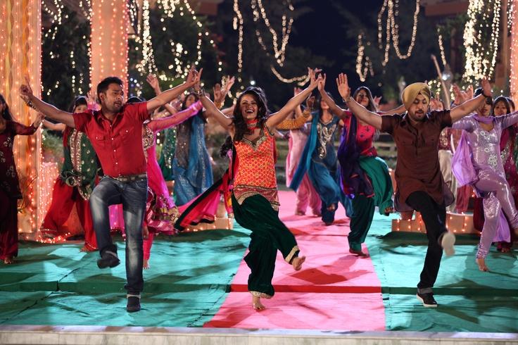 Amrinder Gill, Surveen Chawla & Diljit Dosanjh in 'Aaja Bhangra Pa Laiye'