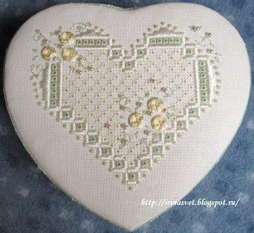 Lovely stitched lid for trinket box by Irina - Picasa Web Albums