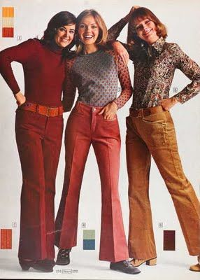 Sears catalog 1971 - corduroy bell bottoms!  We called them 'whistle britches' because of the sound they made when you walked.