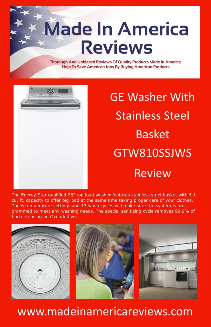 Made In America GE Washer Machines Review GTW810SSJWS