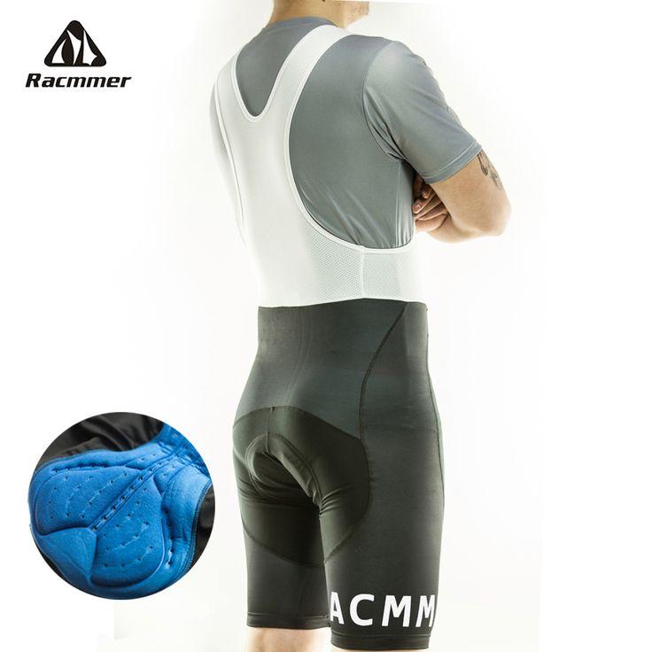 Racmmer 2016 hommes cyclisme cuissard été Coolmax 3D Gel Pad vélo Bib Tights vtt Ropa Ciclismo évacuation de l'humidité pantalons # BD-02