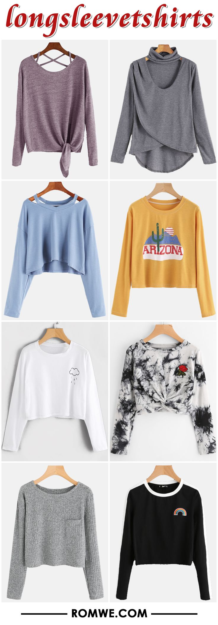 long sleeve t shirts from romwe.com