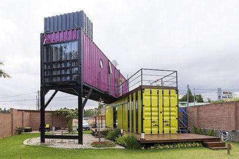 Resultado de imagem para casas feitas de container