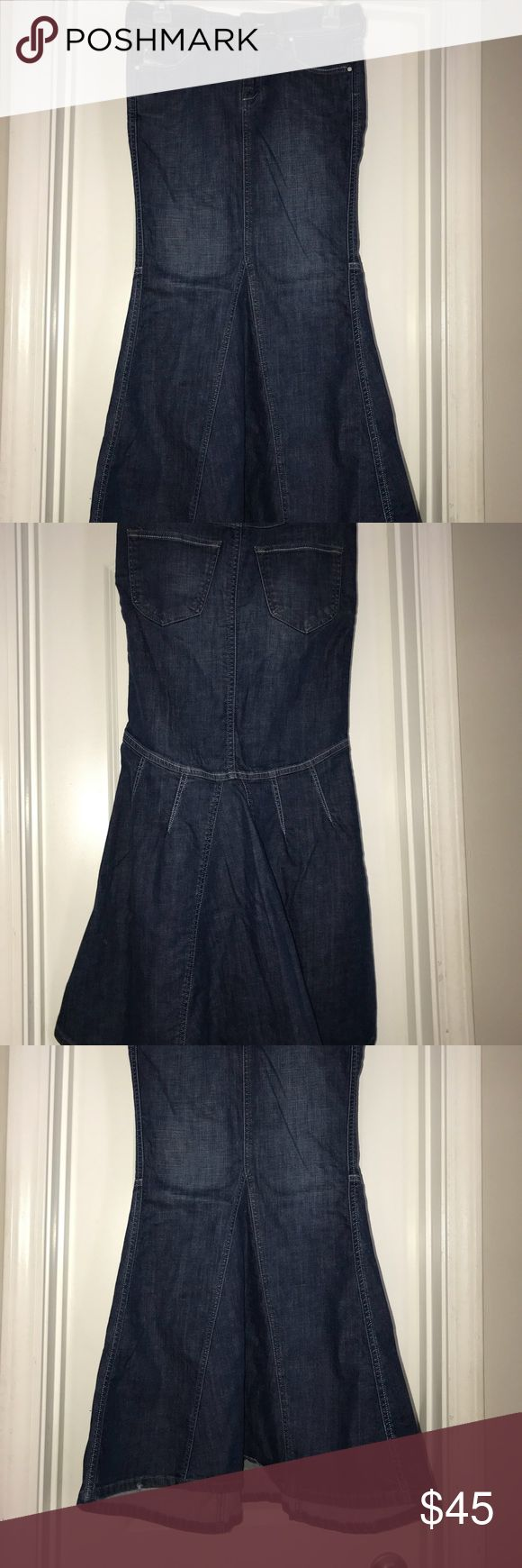 Diesel Long Denim Skirt Flared, fitted! small size, labeled as size 26 Diesel Skirts Maxi