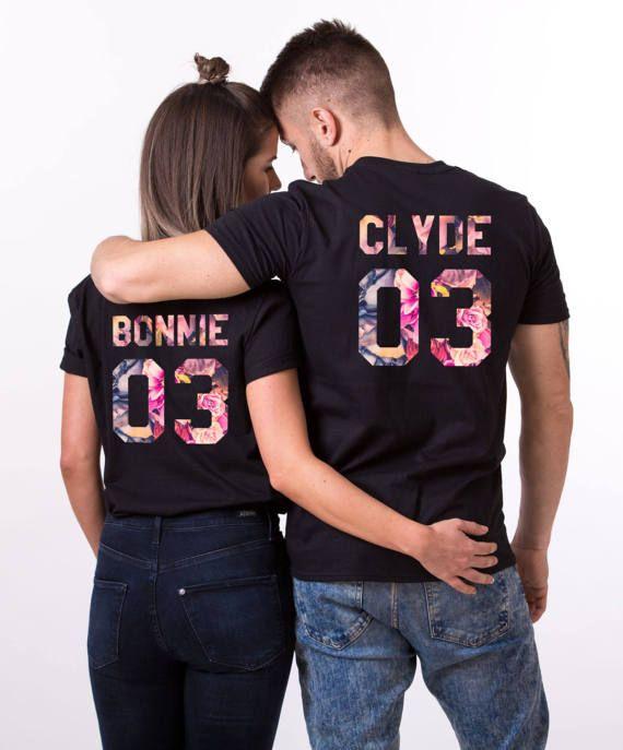 Bonnie and Clyde Shirts, Bonnie Clyde Floral Shirts, Bonnie Clyde Fleur Shirts, Bonnie Clyde Shirts, Fleur Collection, UNISEX
