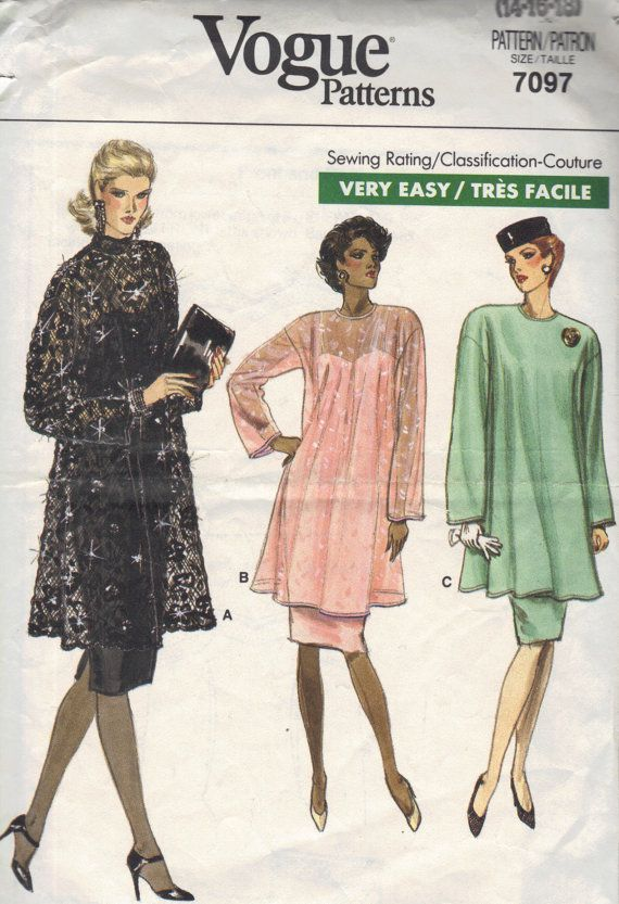 Vogue 80s Sewing Pattern Plus Size Dress by AdeleBeeAnnPatterns, $6.00  Like this.  wonder if someone could make this for me.