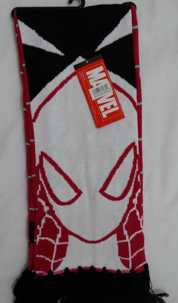 Spider Gwen Spiderman Marvel Comics Jacquard Scarf Nwt #marvel #Scarf