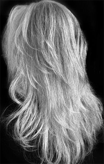 great silvery gray color, I would love to grow my hair this length