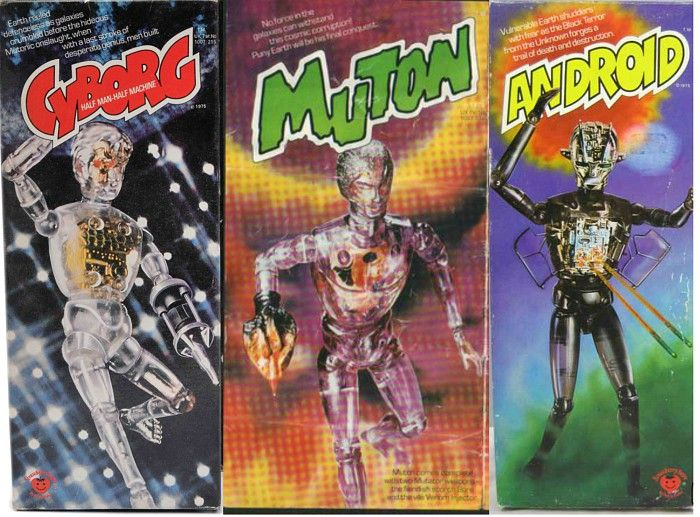 Cyborg, Muton and Android toys by Deny's Fisher (mid 1970s)