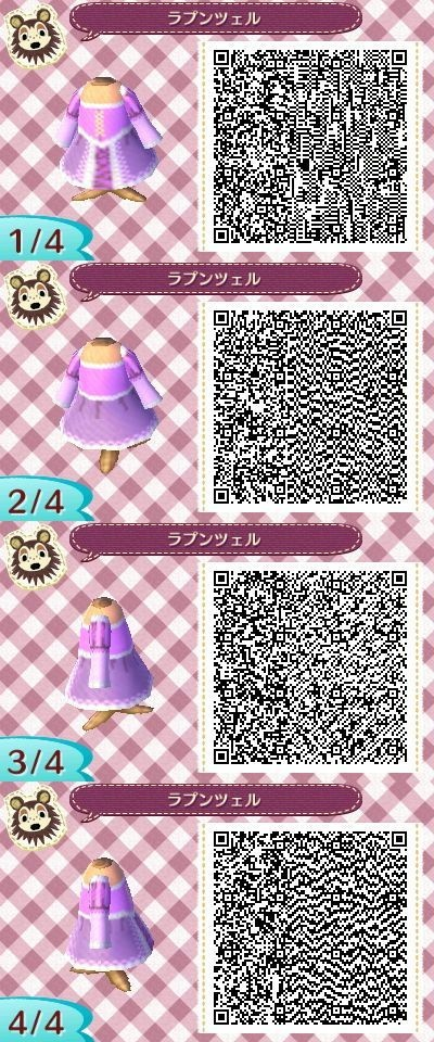 Animal Crossing: New Leaf - Rapunzel dress QR-code