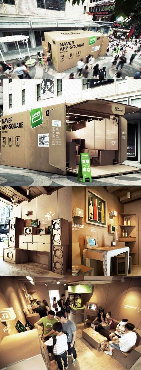 Naver App Square // Cardboard Box Pop-Up  // South Korea