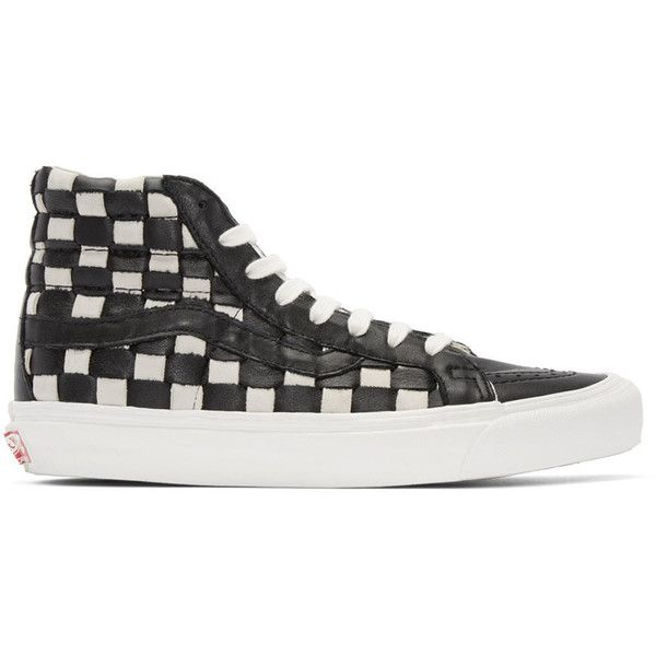 vans sk8 hi checkerboard black&white mens shirt