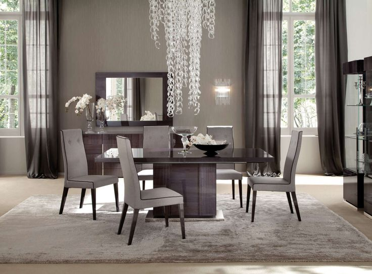 Elegant Dining Room The Crystal Chandelier Is Masterpiece Of This Beautiful