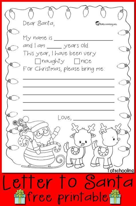 free letter to santa printable christmas christmas santa letter