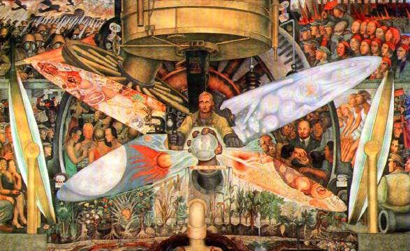 El Hombre Contralor del Universo, 1933 Diego Rivera (Mexican) fresco mural, Rockefeller Center, New York no longer extant