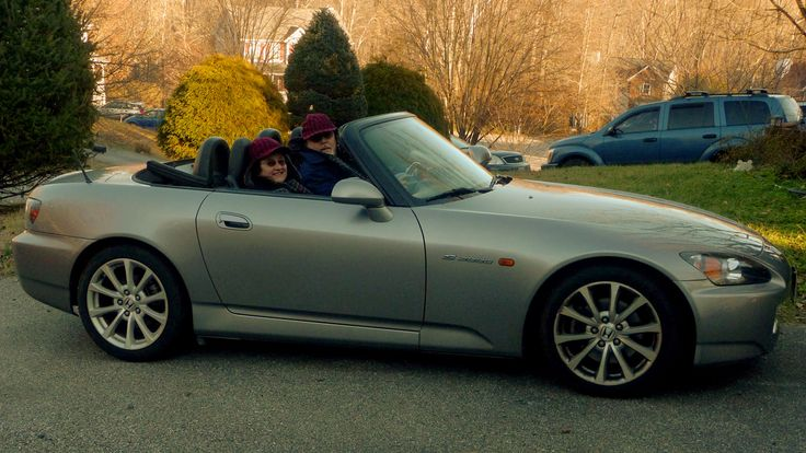 Enjoying 'windows down, top down' even in chilly weather :-)
