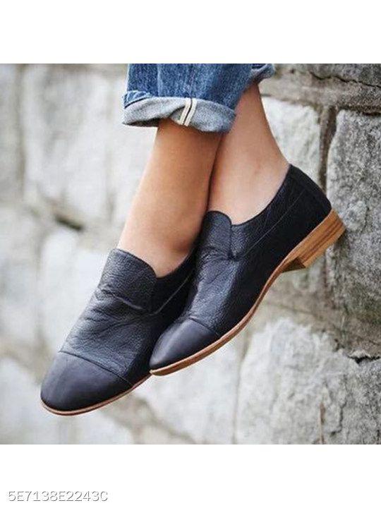 a7e12815c5d7 Plain Flat Round Toe Date Outdoor Comfort Flats. Plain Flat Round Toe Date  Outdoor Comfort Flats Low Heel Shoes, Low Heels, Women's