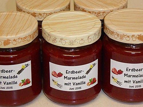 Erdbeermarmelade mit Vanille - soooo lecker!