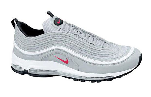 Air Max 97  Year Introduced: 1997  The Air Max 97 seemingly skipped over the Air Max 96 and looked back to the Air Max 95 for design inspiration. It had the same sleek, front-to-back orientation, made even more streamlined by the all-new Airbag design. Done up in all silver with tons of reflective 3M, the Air Max 97 looked like it was back from the future.