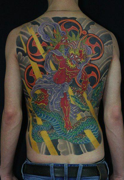 Japaneese tattoo by Mihai #Japan #HugeTattoo #tattoo