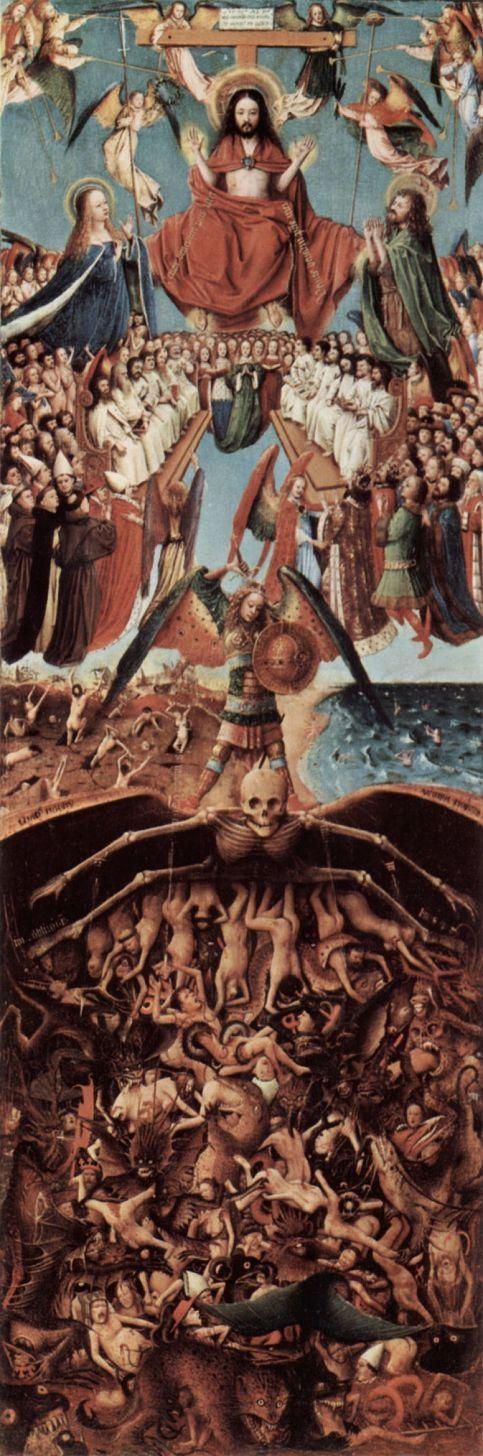 Ян ван Эйк. Страшный суд, створка диптиха, фрагмент