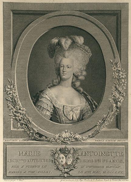 Portrait de Marie Antoinette