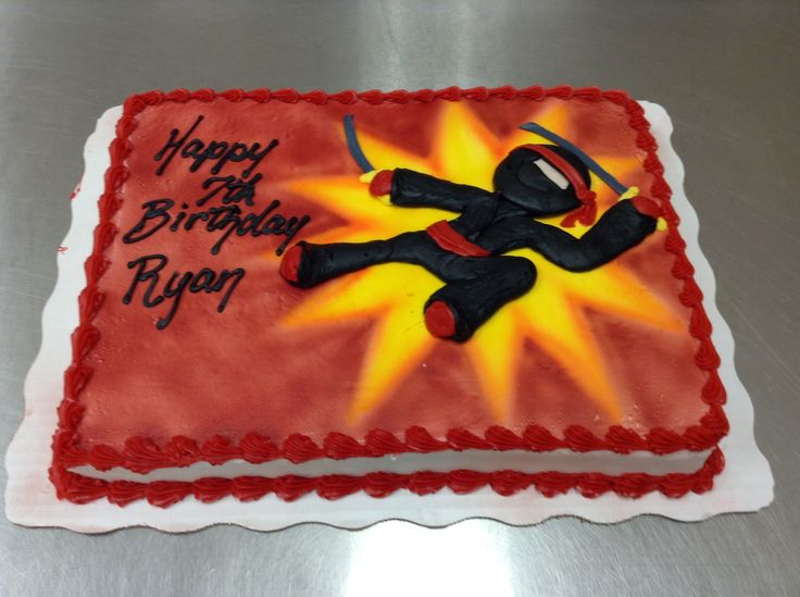 ninja birthday cake ideas
