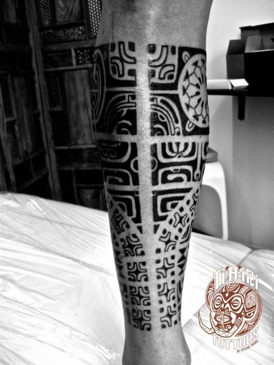 Polynesian Leg Tattoos - Ti'a'iri Polynesian Tattoo