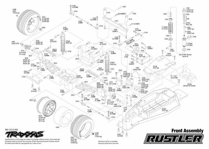 Front Assembly. | Traxxas Rustler Project | Pinterest | Traxxas regarding Traxxas Rustler Parts Diagram