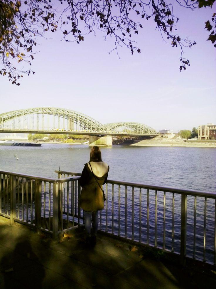 Köln Rhein-Ufer, Deutschland