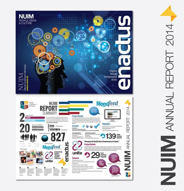Enactus Annual Report designed for NUI Maynooth.