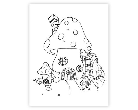 Fairy Coloring Pages Fairy Houses Fairy Coloring Pages Fairy