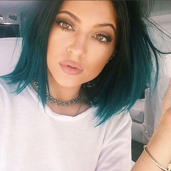 Kylie Jenner Doesn't Look Like This Anymore #refinery29 http://www.refinery29.com/2014/06/69609/kylie-jenner-hair#slide1 This, Miss Turquoise Mane serving fishy looks, is the Jenner we've come to know.