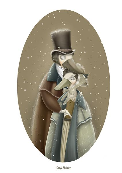 «Мама и Папа». Катя Малеев. #helloposter #poster #posters #art #modernart #printart #illustrators #illustration