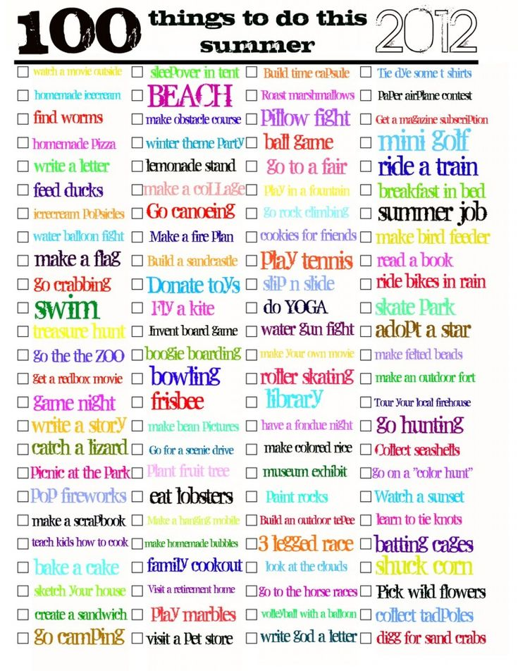 100 things to do this summer;): Todo Lists, 100 Things To Do This Summer, 100 Day Of Summer, Check Lists, Summer Lists, Summer Buckets Lists, Summer Fun, Summer Checklist, Summer Time