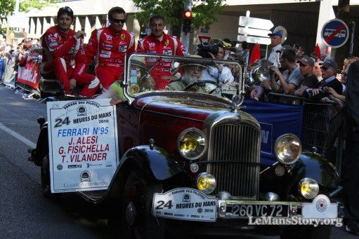 Greatest Race Car Drivers pictures Wurz Gene Franck Montagny Giancarlo Fisichella Jean Alesi on the best of motor racing circuits Le Mans