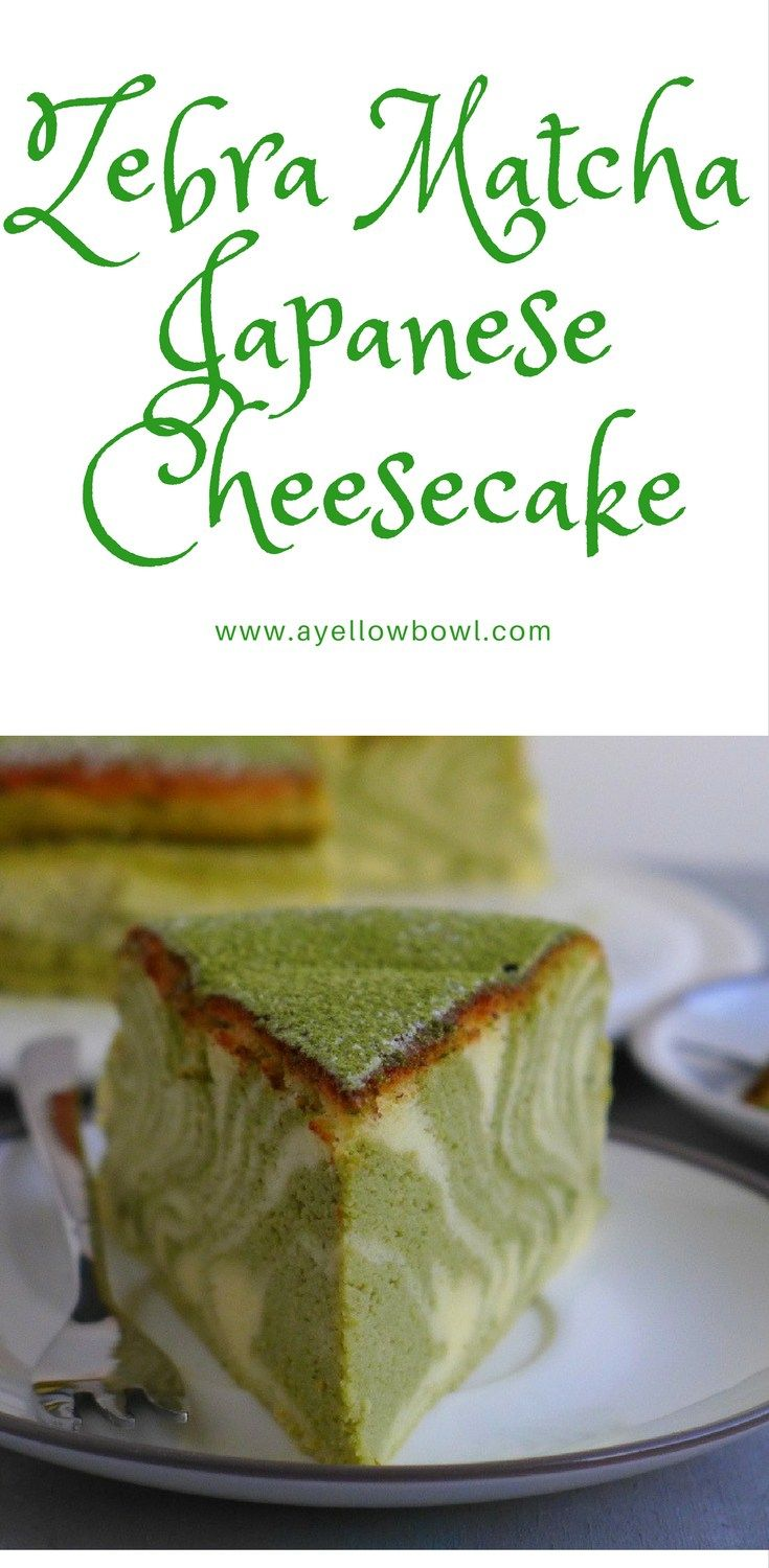 Tips and Detailed Instructions on how to Make a Zebra Matcha Japanese Cheesecake for all you matcha lovers out there.