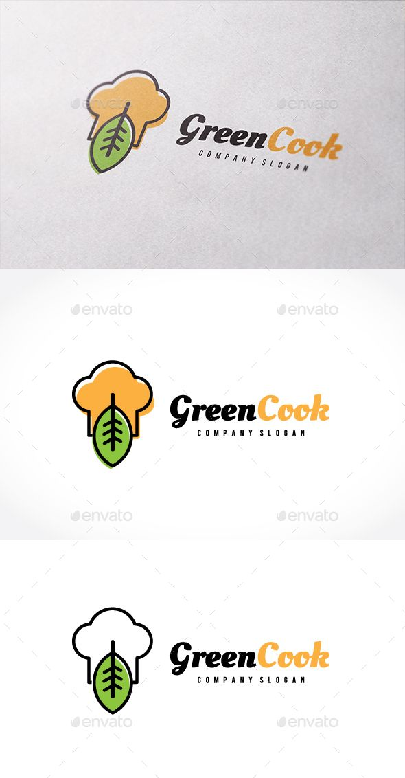 Green Cook - Logo Design Template Vector #logotype Download it here: http://graphicriver.net/item/green-cook/14249642?s_rank=221?ref=nexion