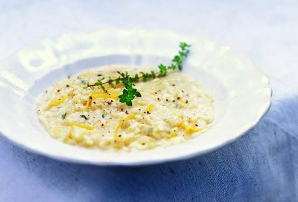 Lemon and Thyme Risotto from Leite's Culinaria (http://punchfork.com/recipe/Lemon-and-Thyme-Risotto-Leites-Culinaria)