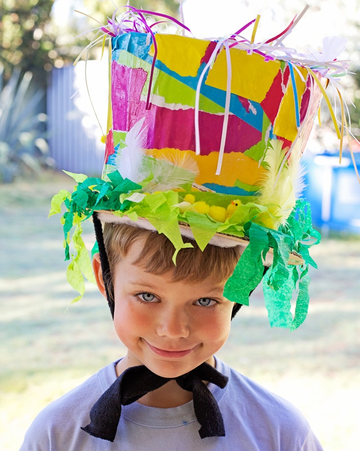 Heres a hat we made for Zac's Easter hat parade