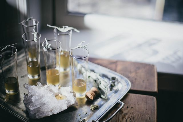 Local Milk | Sage Ginger Prosecco Cocktail for West Elm