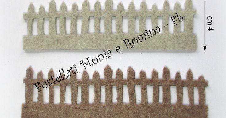 fustellati feltro steccato staccionata giardino creazioni